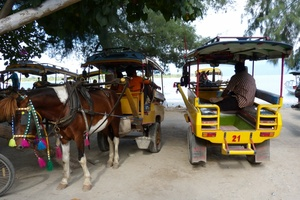Local taxi at Gili Trawangan