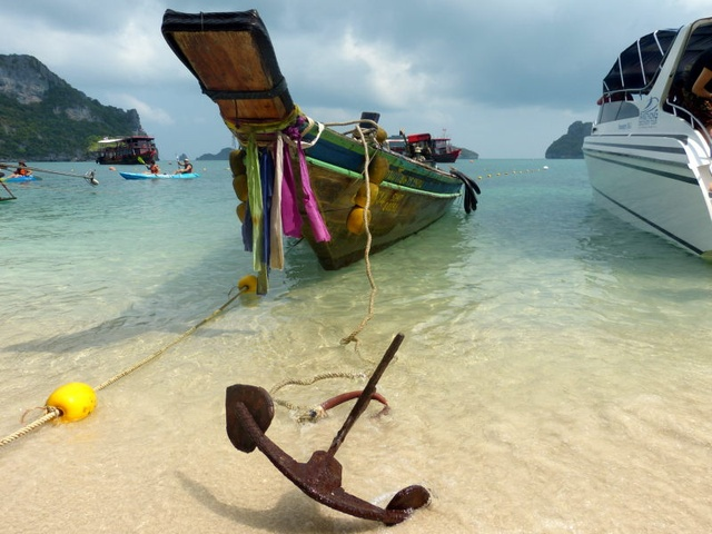 Thailand, boat, anchor, beach.