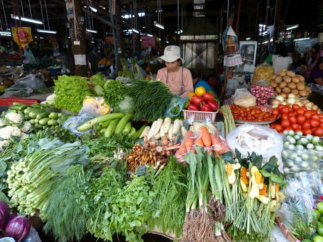 market, vegetables in Chiang Mai
