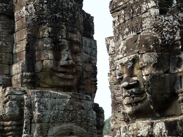 Statue heads at Angkor