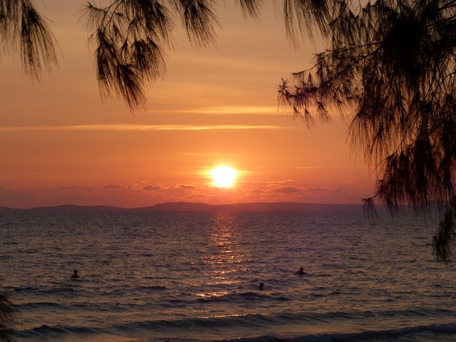 Sunset at Otres beach, Cambodia