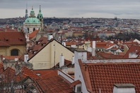 View over Prague rooftops